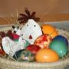 Ostereier färben und gestalten 2012 mit Naturfarben